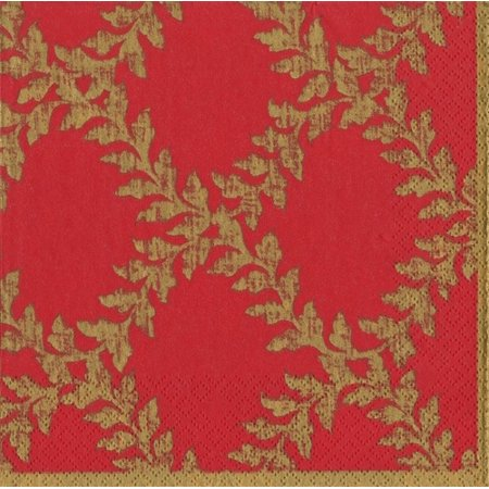 Christmas Paper Dinner Napkins 20pk Acanthus Red Gold ()