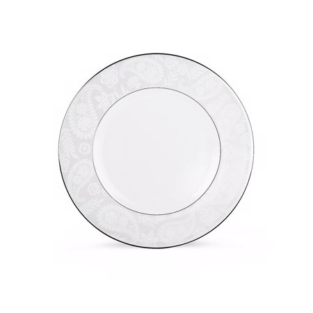 Lenox China Kate Spade Bonnabel Place Butter Plate, A delicate updated floral and paisley design is accented with a band of precious platinum in this kate spade new.., By - Platinum Paisley
