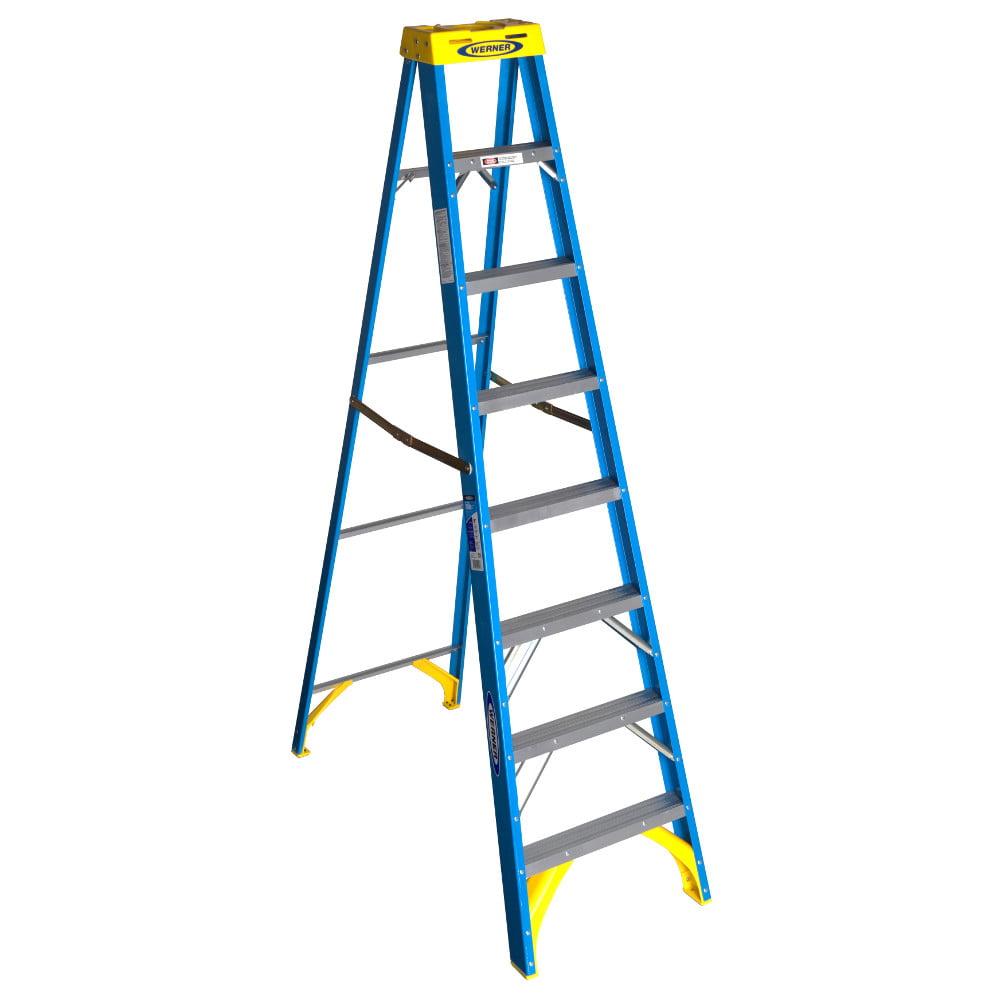 Werner 6008 8' Fiberglass Step Ladder by Werner