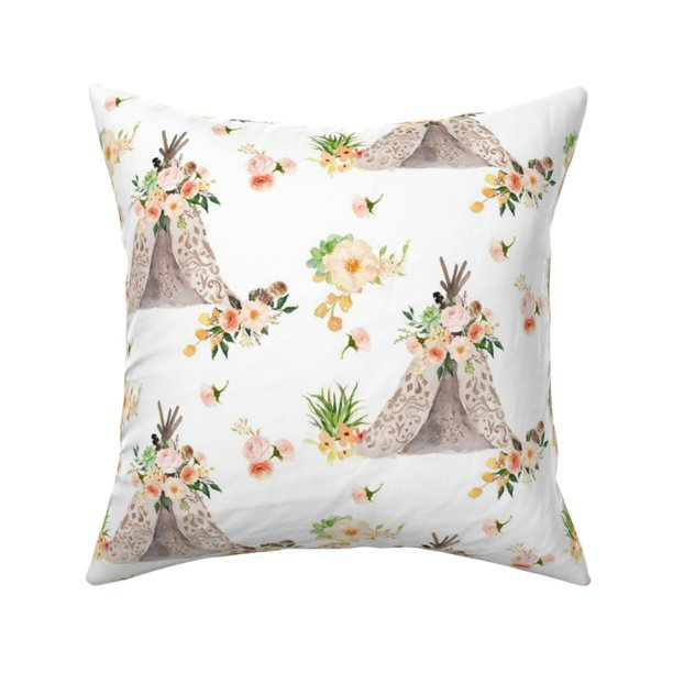 Baby Girl Boho Woodland Throw Pillow Cover W Optional Insert By Roostery Walmart Com Walmart Com