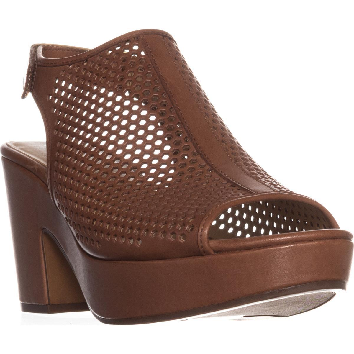 Womens Naturalizer Ella Platform Wedge Sandals, Saddle Tan by Naturalizer