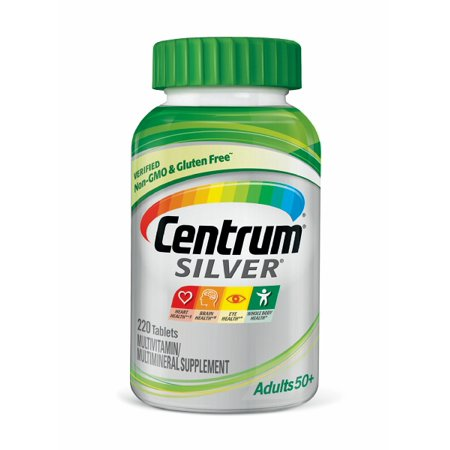 Adult Multi Vitamin - Centrum Silver Adult 50+ Multivitamin Tablets, 220 Ct