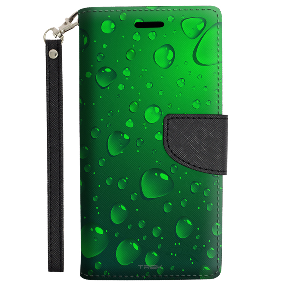 Samsung Galaxy Note 5 Wallet Case - Green Water Drops