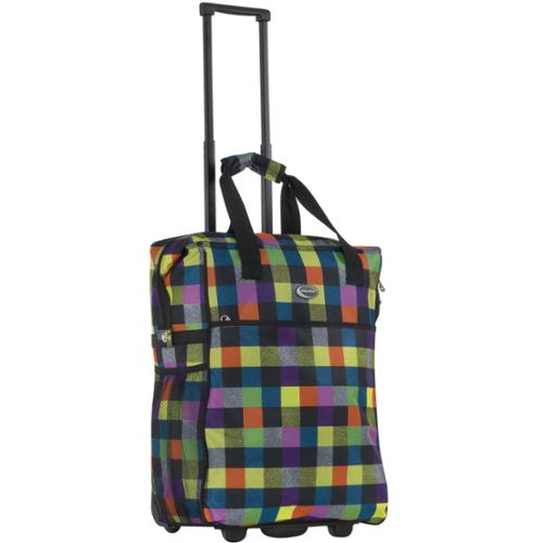 Calpak 'Big Eazy' Bright Checkers 20-inch Washable Rolling Shopping Tote Bag