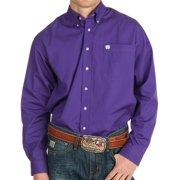 Cinch Apparel Mens  Purple Pinpoint Oxford Long Sleeve Shirt