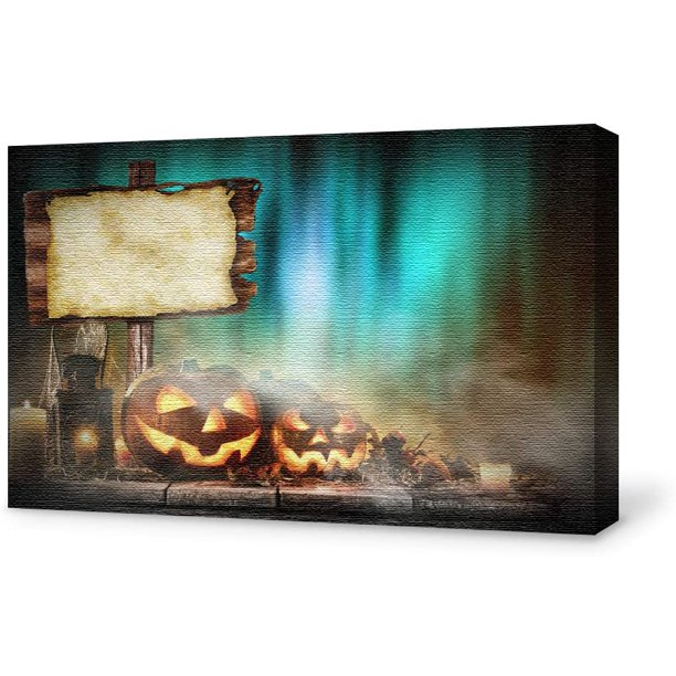 Wall26 Canvas Wall Art Halloween Pictures Home Wall Decorations For Bedroom Living Room Paintings Canvas Prints Framed Walmart Com Walmart Com