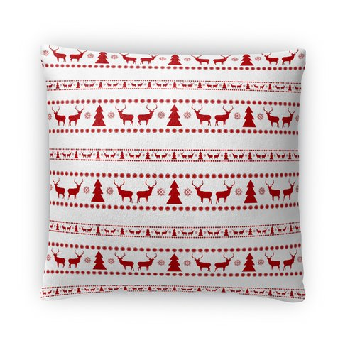 The Holiday Aisle Deer and Trees Throw Pillow