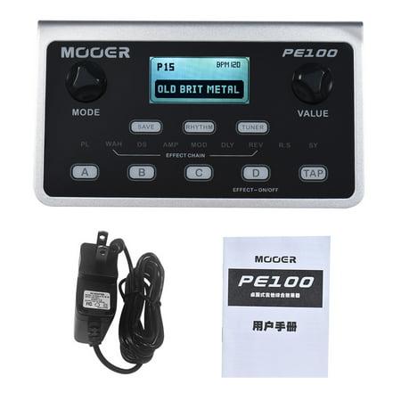 MOOER PE100 Portable Multi-effects Processor Guitar Effect Pedal 39 Effects 40 Drum Patterns 10 Metronomes Tap Tempo - image 5 de 7