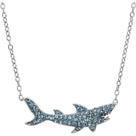 Luminesse swarovski element sterling silver shark necklace 17 luminesse swarovski element sterling silver shark necklace 17 aloadofball Gallery