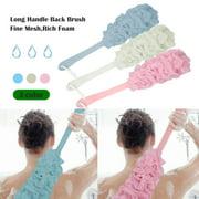 Back Scrubber for Shower, Anti-Slip Long Handle Bath Sponge Shower Brush, TSV Soft Nylon Mesh Back Cleaner Washer, Body Brush for Women & Men, Bathroom Shower Accessories