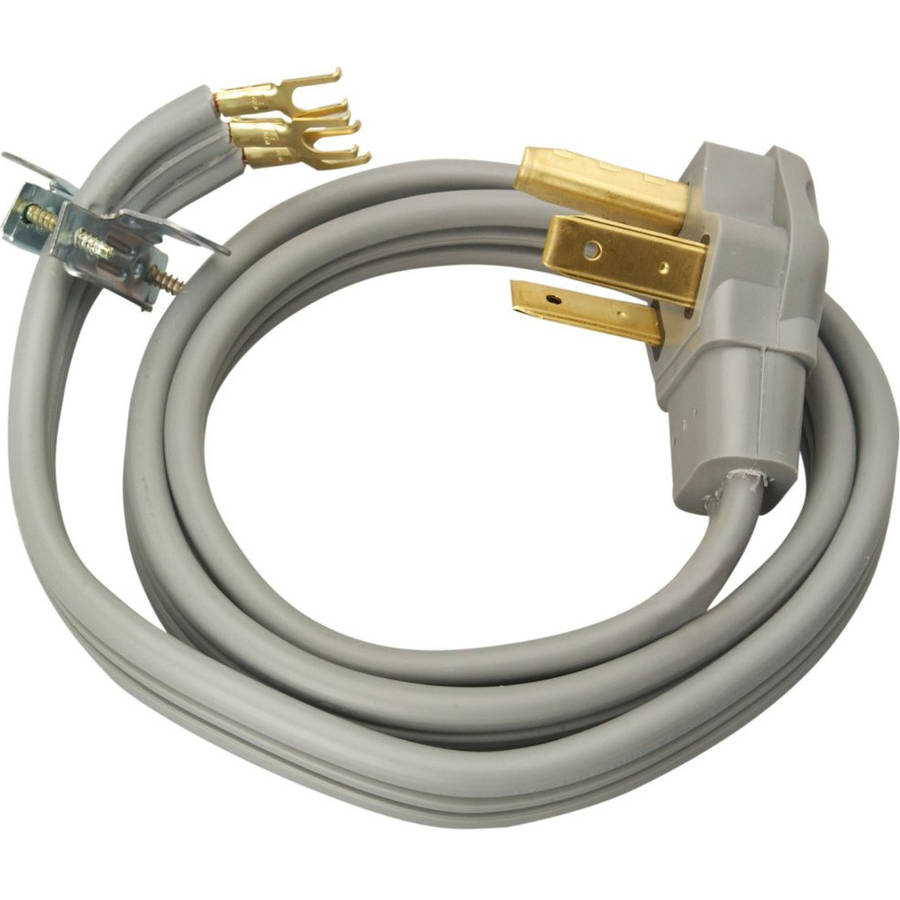 dryer power cord coleman cable 30 amp 3 wire dryer power cord 4 foot 10556