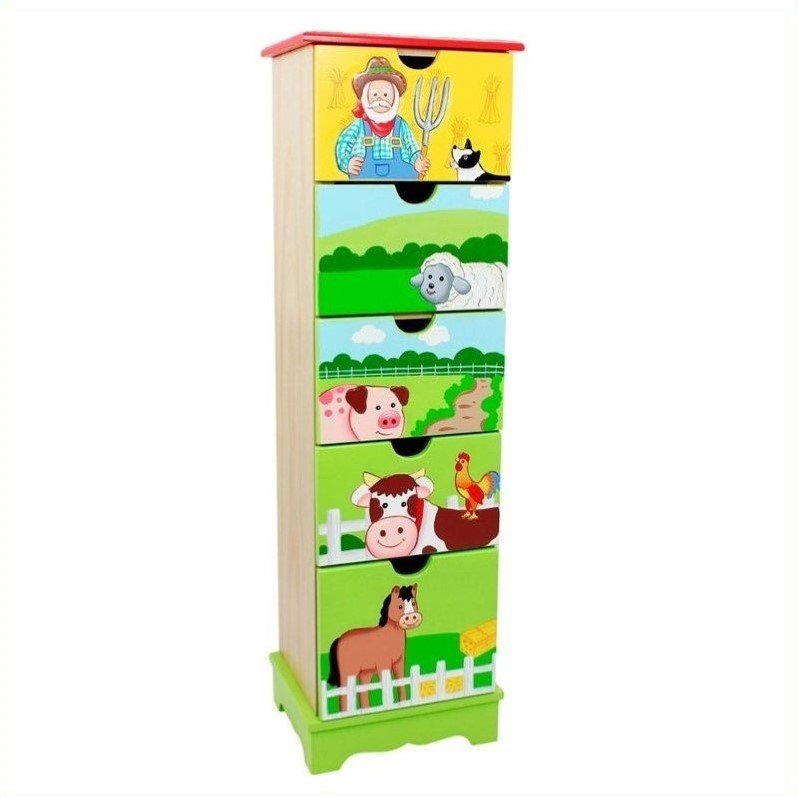 Fantasy Fields Happy Farm 5-Drawer Cabinet by Teamson