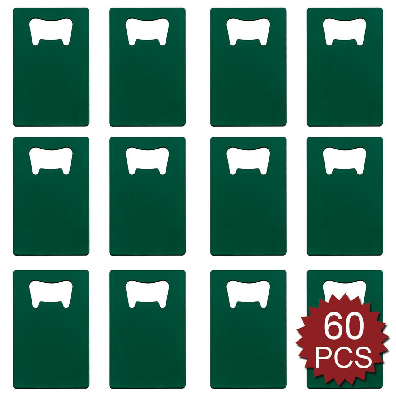 Aspire 60 PCS Credit Card Bottle Opener Fits Wallet, Various Colors
