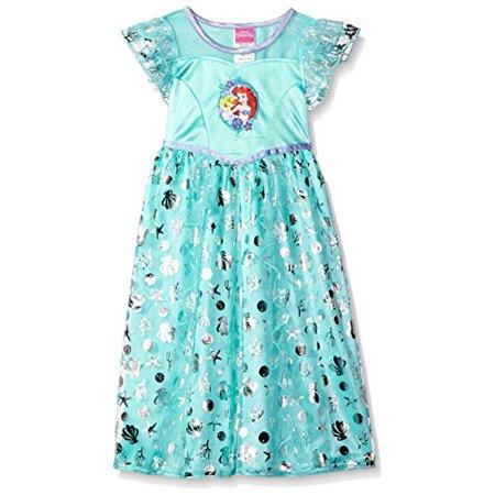 Disney Little Girls' Fantasy Nightgowns, Mint Mermaid, 6