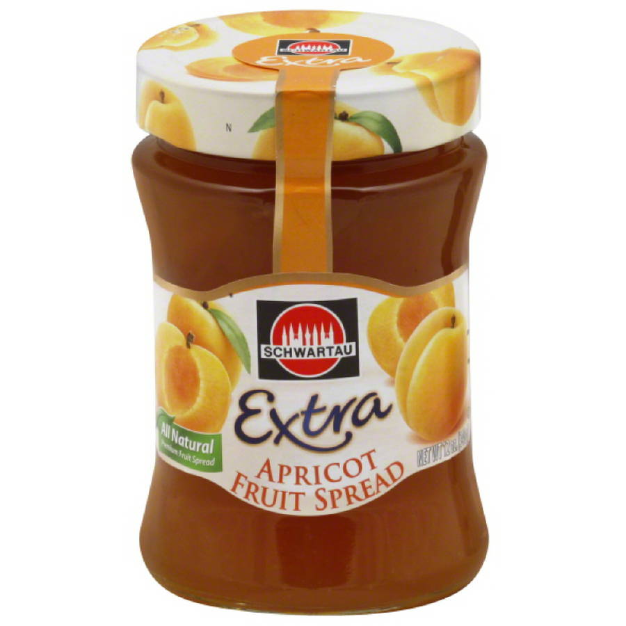 Schwartau Extra Apricot Fruit Spread, 12 oz, (Pack of 10)