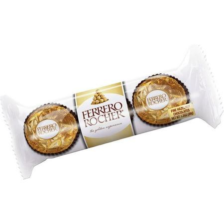 (Ferrero Rocher 3 Piece Package, 1.3 Oz, (Pack of 12))