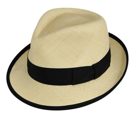 Pantropic Mens Riviera Panama Trilby Hat Riviera Cap Ferrat