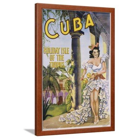 Cuba Framed Print Wall Art - Walmart.com