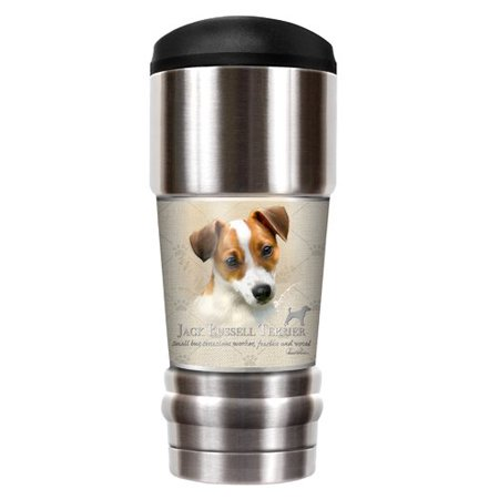 Great American Products Howard Robinson's Jack Russell 18 oz. Stainless Steel Travel Tumbler - Russell Howard Halloween