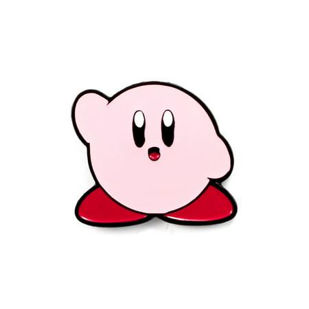 Cute Kirby Pin Nerdy Video Game Art Enamel Hat -