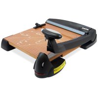 """X-Acto 12"""" Square Laser Guillotine Trimmer, Wood Base"""