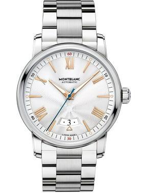 Montblanc Men's 4810 42mm Steel Bracelet & Case Automatic Silver-Tone Dial Analog Watch 114852
