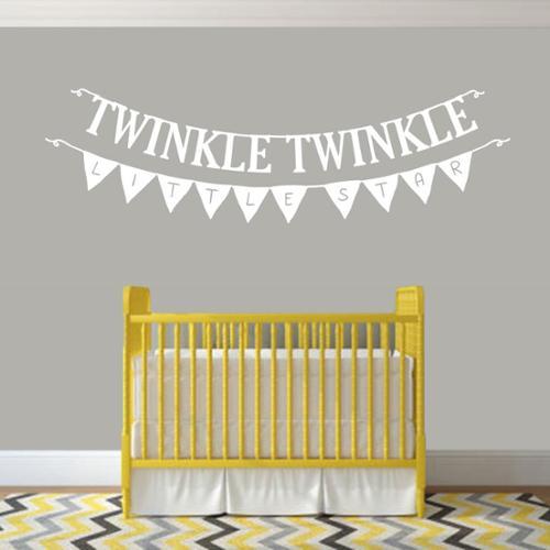 Sweetums Twinkle Twinkle Little Star 48-inch x 16-inch Nursery Wall Decal