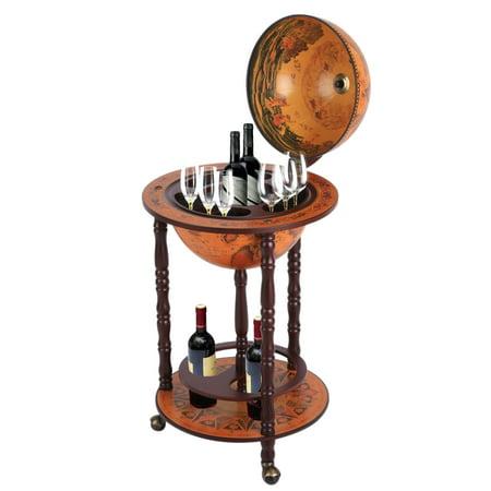 Festnight Globe Bar Cabinet with Table Trolley