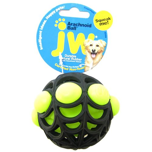 JW Pet Arachnoid Ball Squeaker Toy for Dogs