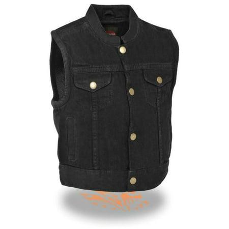Milwaukee Kids Denim Club Style Snap Front Vest Black