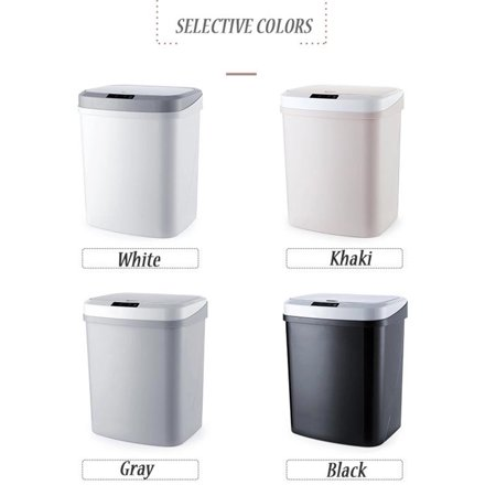15L/4Gal Touch-free Trash Cans Smart Knock Trash Cans Automatic Garbage Can Infrared Motion Sensor with Lid for Kitchen Bathroom Office Bedroom - image 1 of 7