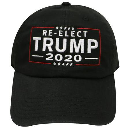 C104 Uniex Re-elect Trump 2020 Cotton Baseball Caps - Black](Blank Baseball Caps)