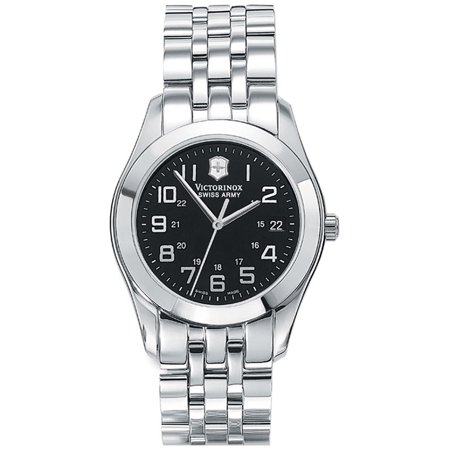 Victorinox Swiss Army Alliance Stainless Steel Black Dial Date Men