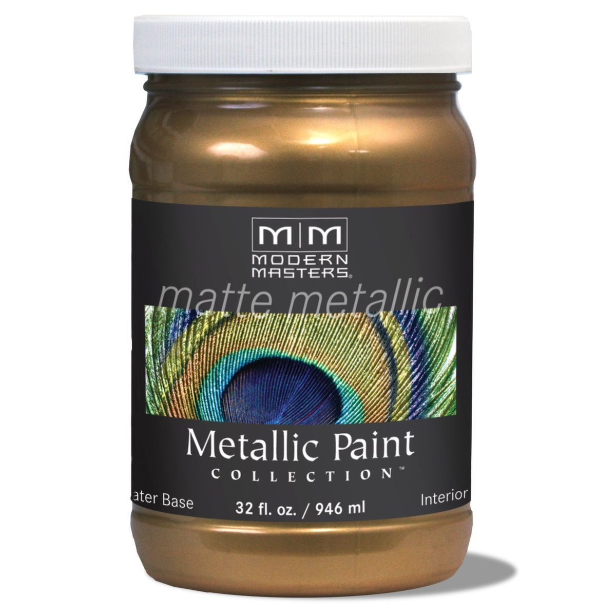 MM238 Matte Metallic Paint, Blackened Bronze, Quart, Uniquely combined Pigments and particles create a palette of the 15 most popular metallic colors By Modern Masters
