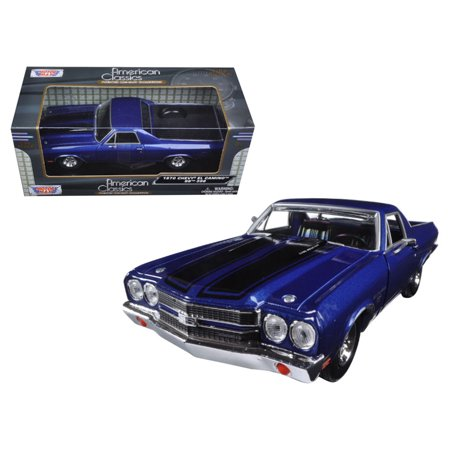 1970 Chevrolet El Camino SS 396 Blue 1/24 Diecast Model Car by (Chevrolet El Camino)