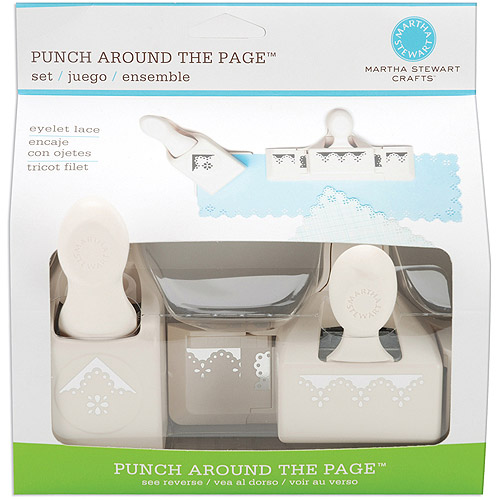 Martha Stewart Crafts Punch Around the Page Combo, Eyelet Lace