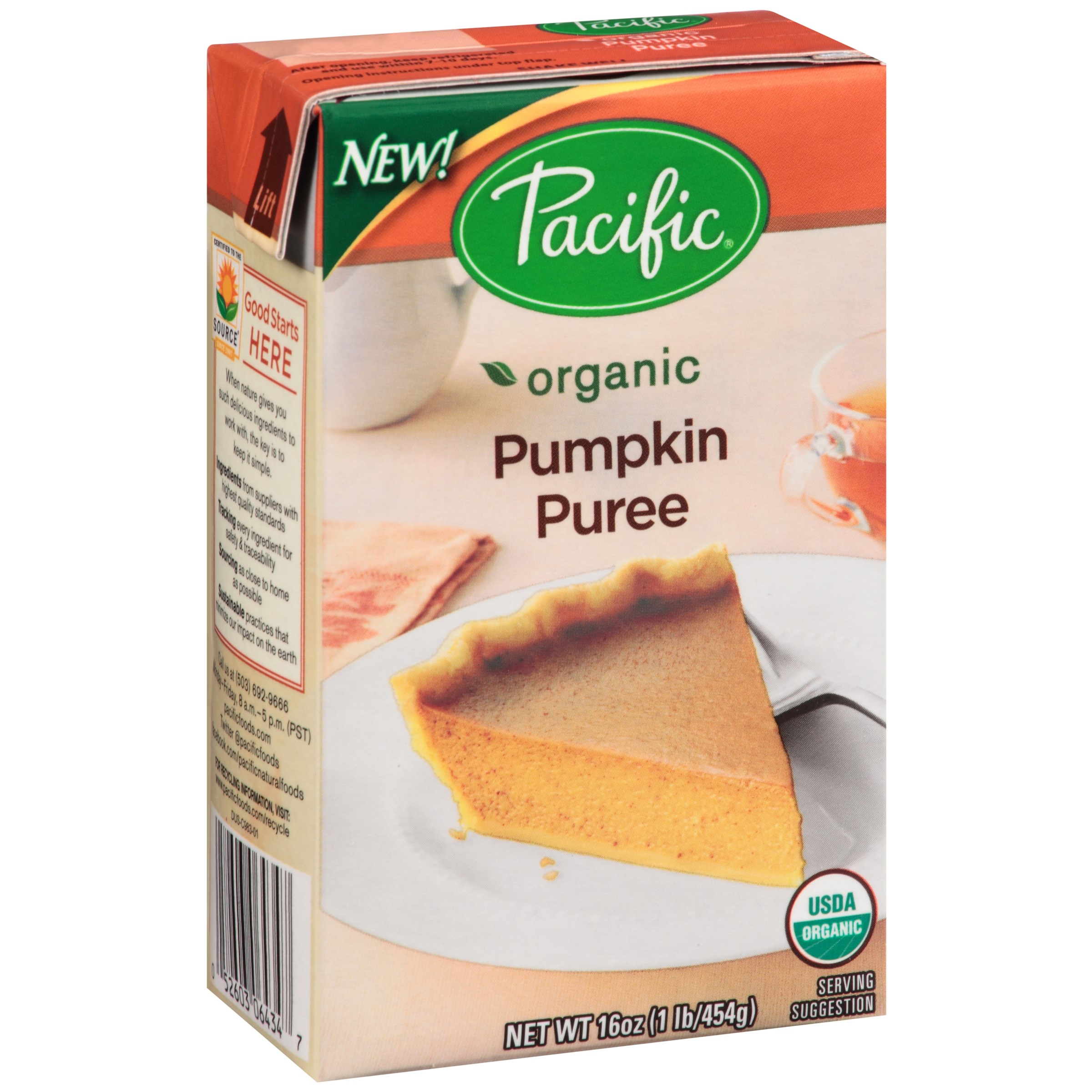Pacific Foods Organic Pumpkin Puree, 16-Ounces