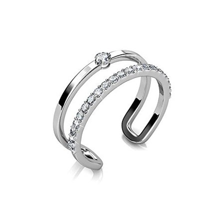 Cate & Chloe Esme 18k White Gold Plated Ring, Jewelry For Women, Ring, Stackable Rings, Gold Rings MSRP $135