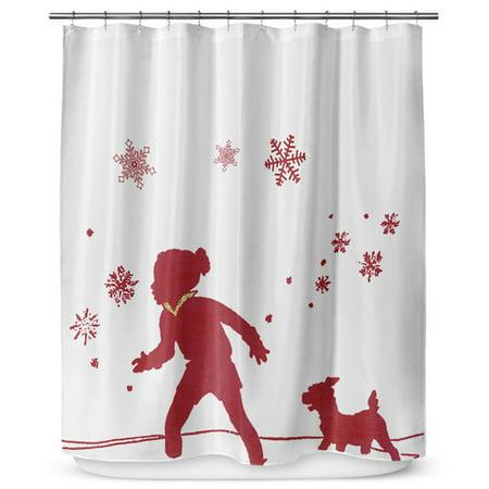 KAVKA DESIGNS A Walk In The Snow Single Shower Curtain