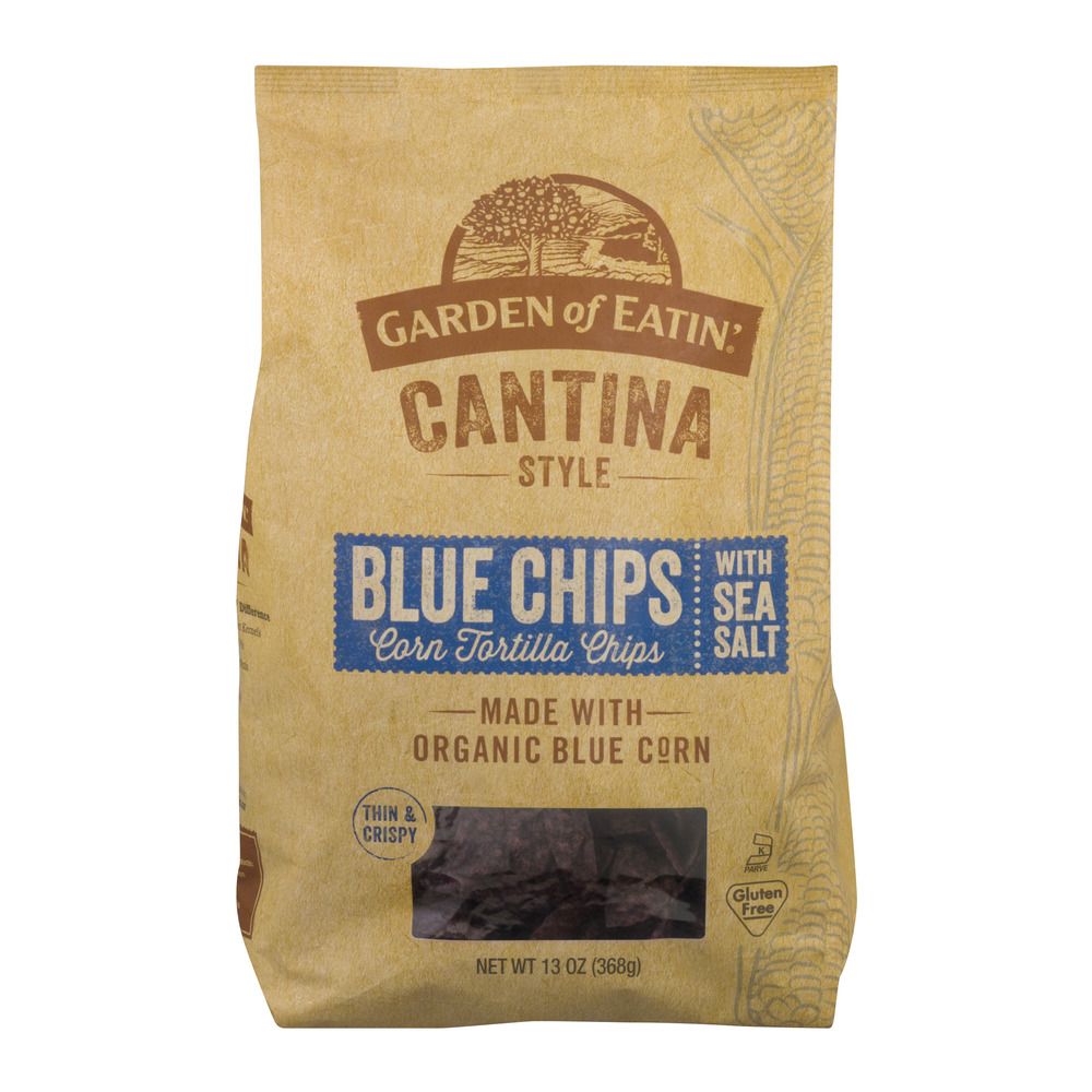 Garden Of Eatin' Cantina Style Blue Chips Corn Tortilla Chips With Sea Salt, 13.0 OZ