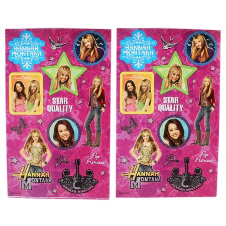 Hannah Montana Sticker Card (Disney's Hannah Montana Magenta Background Sticker Sheets (2 Sheets))