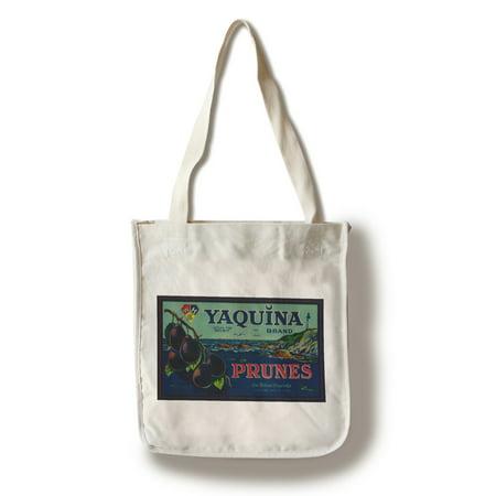 Portland, Oregon - Yaquina Prune Label (100% Cotton Tote Bag -