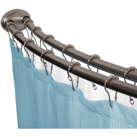 Smart Rod Double Curved Tension Shower Curtain Rod, Brushed Nickel ...