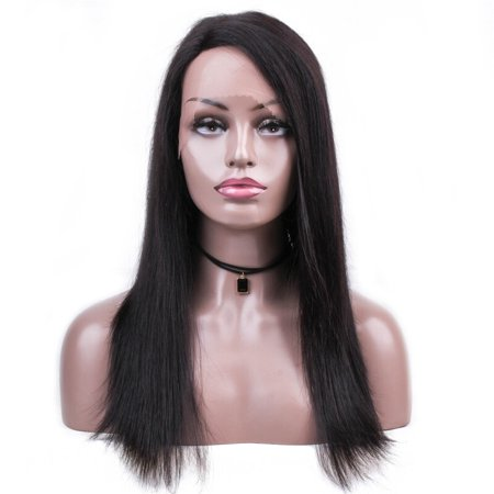 BEAUDIVA Brazilian Straight Human Hair Wigs Natural Color 130% Lace Wigs With Full End Wigs 0578