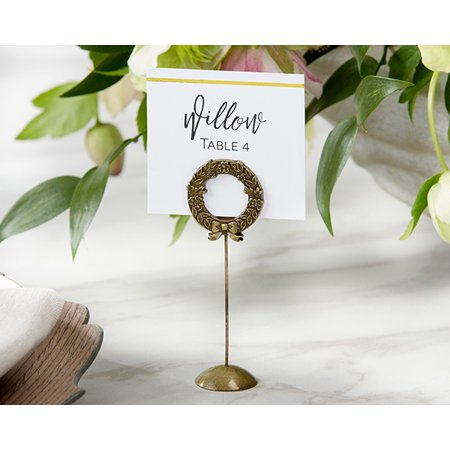 Contemporary Place Card Holders - Gold Laurel Place Card Holder (Set of 6)