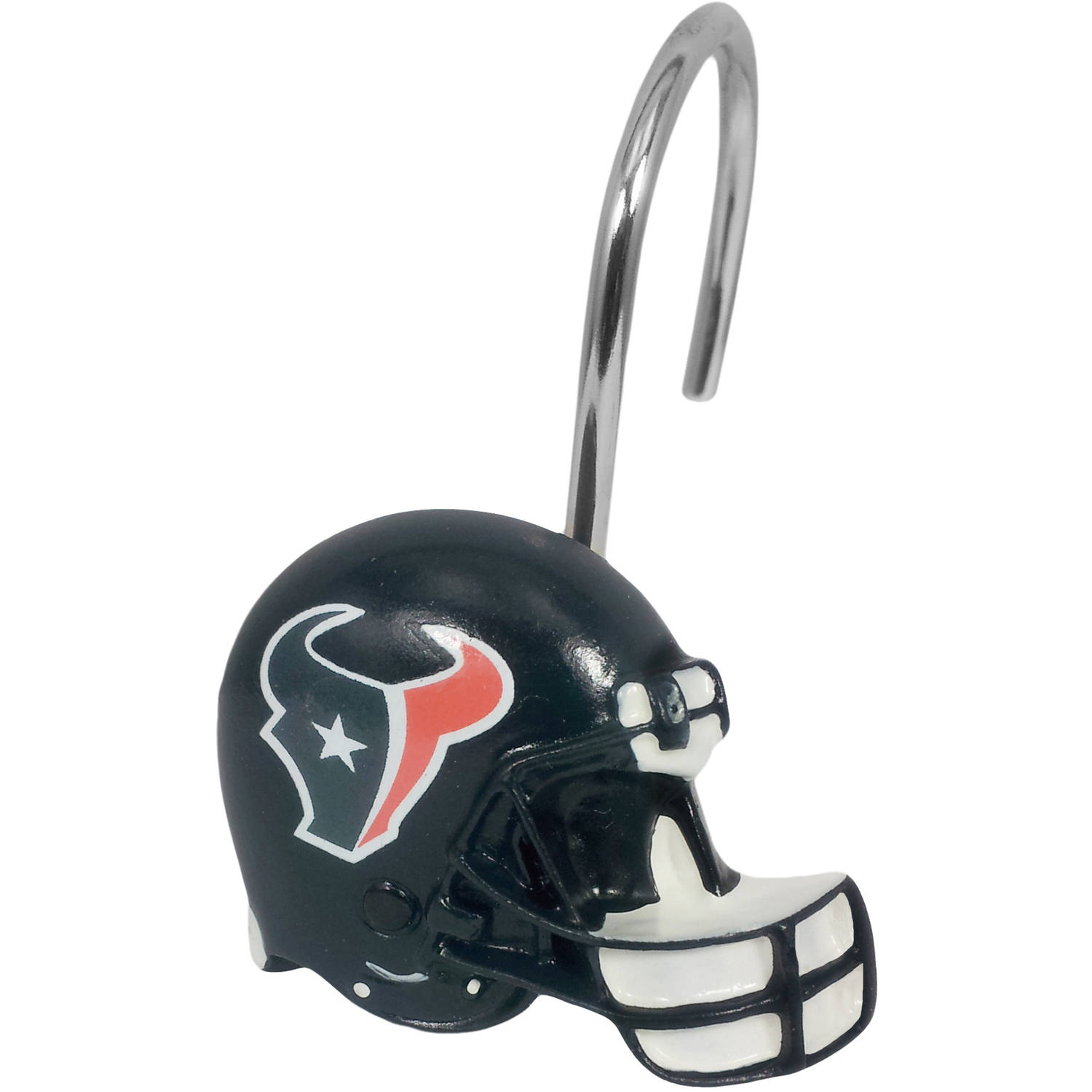 NFL Houston Texans Decorative Bath Collection 12-Pack Shower Hooks by The Northwest Company