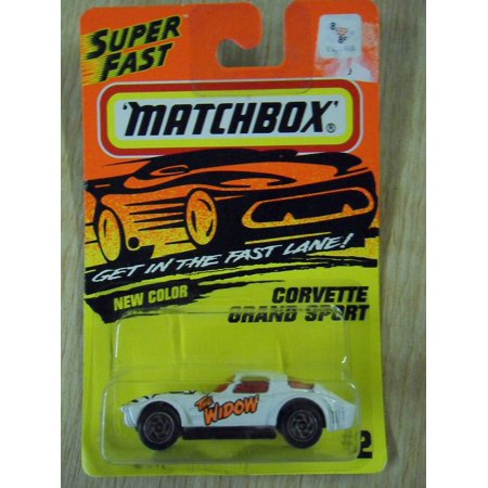 Matchbox Corvette Grand Sport White The Widow #2 Die-Cast Car, By Tyco