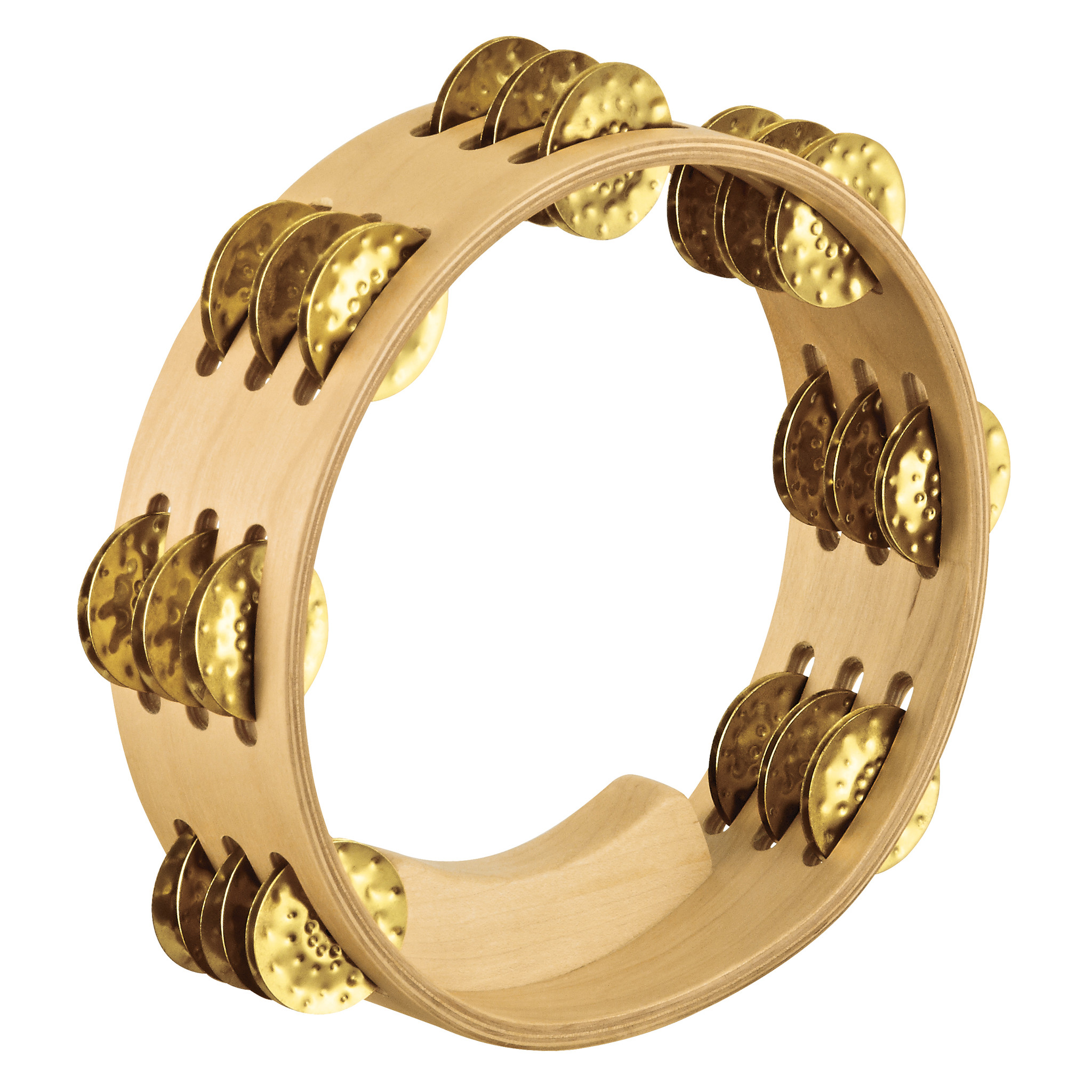 Meinl Percussion Artisan Edition Compact Tambourine, Brass Jingles by Meinl