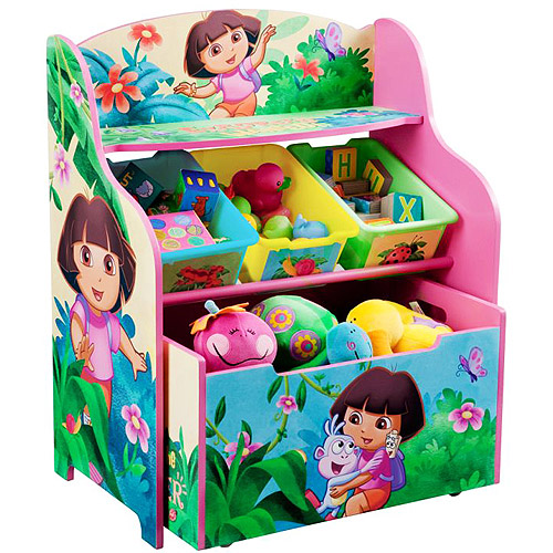 Dora the Explorer 3 Tier Organizer with Rollout Toy Box, 10th Anniversary Edition