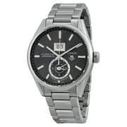 Tag Heuer Carrera Calibre 8 GMT Grey Dial Mens Watch WAR5012BA0723